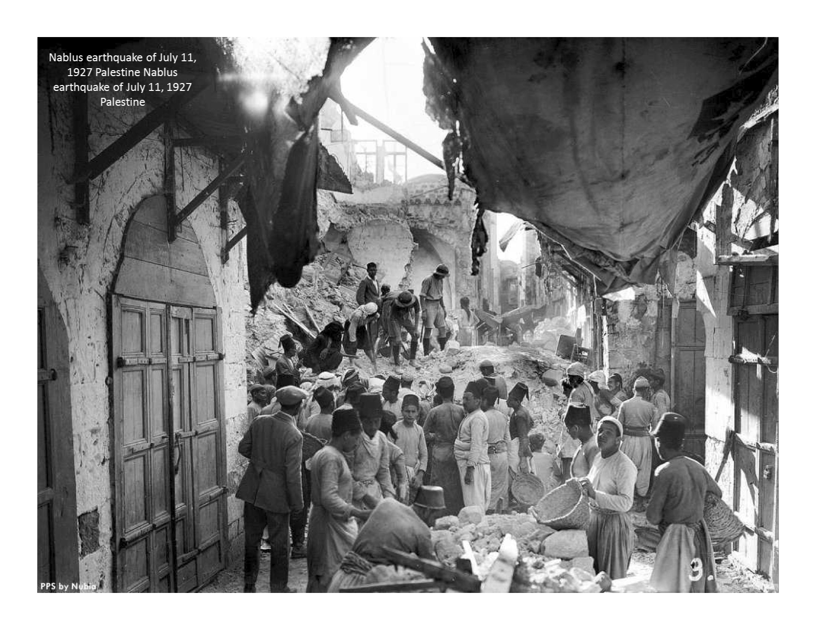 Nablus Earthquake 1927