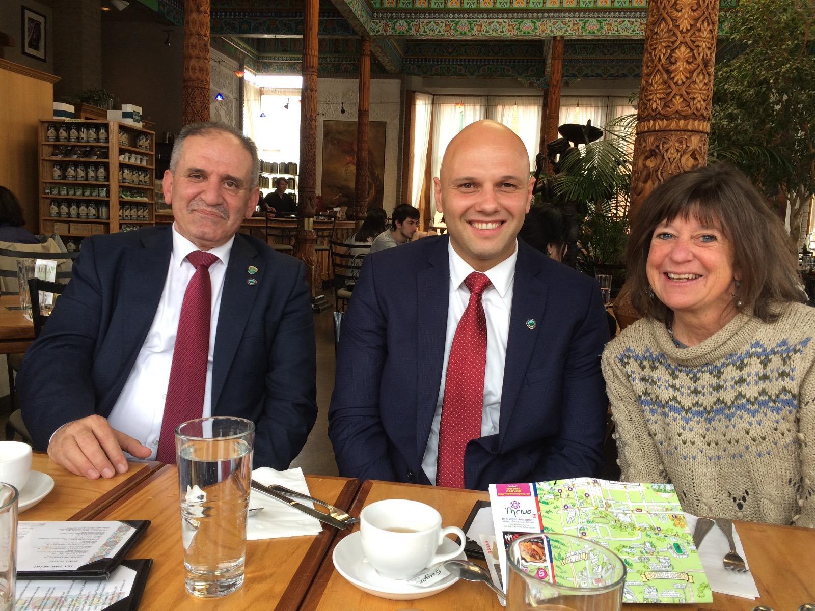Mayor Sawalmeh, Aboud, and Lisa Tea House 05.02